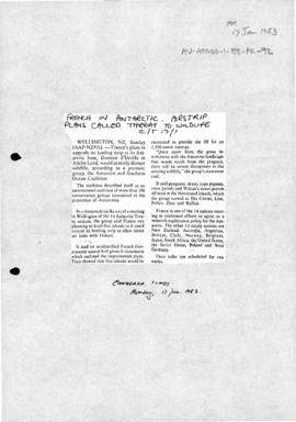 Documents relating to construction of runway at Dumont d'Urville
