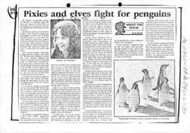 "Warden, Ian ""Pixies and elves fight for penguins"" The Canberra Times"