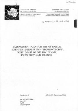 Twenty-first Antarctic Treaty Consultative Meeting (Christchurch) Working paper 31 Revision 1 &qu...