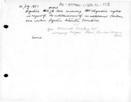 Argentine note verbale  to Chile concerning the establishment of Chilean base within Argentine territory