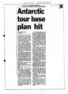 "Dunlevy, Sue ""Antarctic tour base plan hit"" The Herald (Melbourne)"