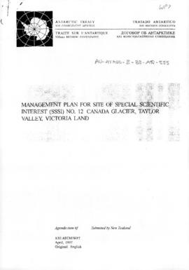 "Twenty-first Antarctic Treaty Consultative Meeting (Christchurch) Working paper 7 ""Managemen..."