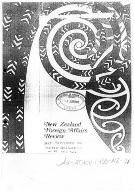 "Brian Talboys, speech ""New Zealand and the Antarctic Treaty"" New Zealand Foreign Affair..."