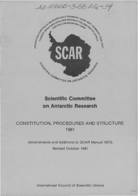Scientific Committee on Antarctic Research, Constitution, Procedures and Structure
