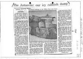 "Beale, Bob ""The Antarctic: our icy rubbish dump"" Sydney Morning Herald"