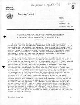 United Nations Security Council and General Assembly, documents concerning the Falklands/Malvinas...