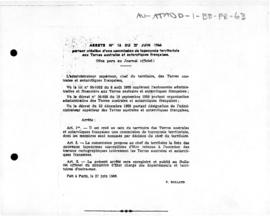 Order no. 16 establishing a place-names commission for French Southern and Antarctic Lands