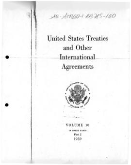 Agreement between the United States and the Union of Soviet Socialist Republics concerning scientific cooperation 1960-61