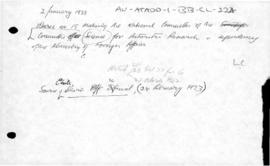 Chile, Decree no. 15 concerning the Committee for Antarctic Research of the Ministry of Foreign Affairs