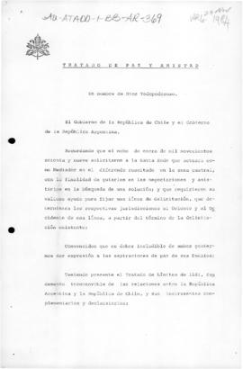 Argentina and Chile, Treaty of Peace and Friendship