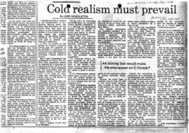 "Press article ""Cold realism must prevail"" The Australian"