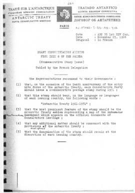 "Fifth Antarctic Treaty Consultative Meeting (Paris) Working paper 35 Revision 1 Corrected ""D..."