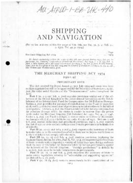United Kingdom, Merchant Shipping Act 1974