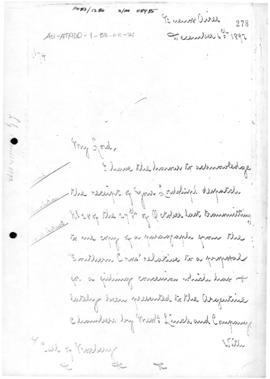 British despatch from Buenos Aires concerning an application to the Argentine government for a co...