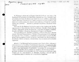 Treaty of recognition, peace and amity between Argentina and Spain
