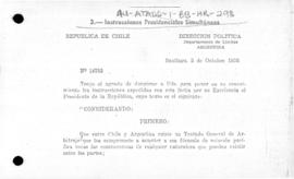 Matching presidential instructions of Argentina and Chile to take measures to ensure the removal and prevention of causes of disharmony between the two countries