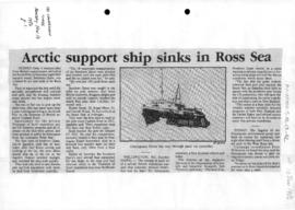 Press article concerning the sinking of Southern Quest in the Ross Sea