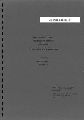 Tenth Antarctic Treaty Consultative Meeting (Washington), documents, English series volume II