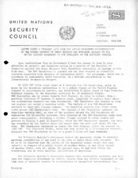 United Nations Security Council, correspondence from the United Kingdom and Argentina concerning use of force against RRS Shackleton