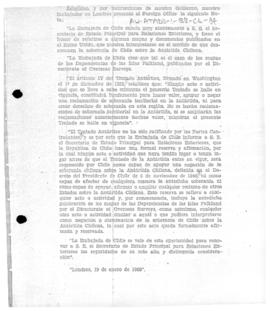 Chilean note to the United Kingdom reserving Chilean rights before the entry into force of the An...