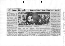 "Woodford, James ""Antarctic plan: tourists in, bases out"""