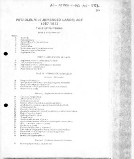 Petroleum (Submerged Lands) Act 1967-1973
