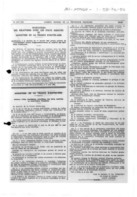 Order establishing a scientific commission for French Southern and Antarctic Lands