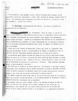 Argentine statement criticising the British exclusion of South Georgia and South Sandwich Islands from settlement proposals regarding the Falkland (Malvinas) Islands