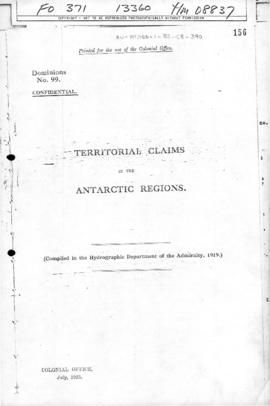 Territorial claims in the Antarctic region, British Admiralty Hydrographic Department, Colonial Office