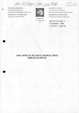 "Twelfth Antarctic Treaty Consultative Meeting (Canberra) Working paper 24 Revision 2 ""Final report of the Twelfth Antarctic Treaty Consultative Meeting"" (ANT/XII/24/REV.2)"