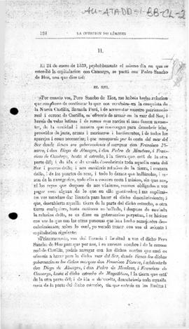 Royal Letters Patent granting to Pedro Sancho de Hoz the governorship of areas south of the Strai...