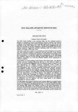 New Zealand, Antarctic Institute Bill