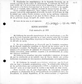 Argentine and Chilean exchange of notes concerning settlement of difference under the Act of Puerto Montt