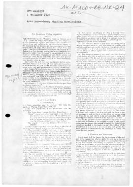 Ross Dependency Whaling Regulations, 1926
