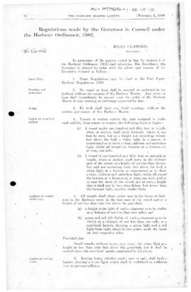 United Kingdom, Port Foster Harbour Regulations 1948