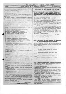France, Decrees appointing the French expedition leaders in Adélie Land representative of the French Government; and related Orders, 1950-1958