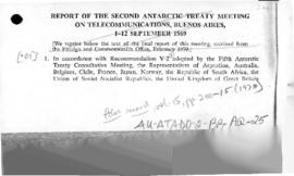 Report of the Second Antarctic Treaty meeting on Telecommunications, Buenos Aires