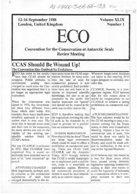 "Environment campaign newsletters, ""CCAS should be wound up"" and ""The CCAS meeting ..."