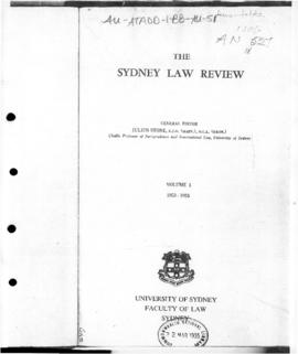 "The Sydney Law Review, ""Heard and MacDonald Islands Act, 1953"""