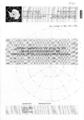 "Twenty-first Antarctic Treaty Consultative Meeting (Christchurch) Information paper 39 ""Open..."
