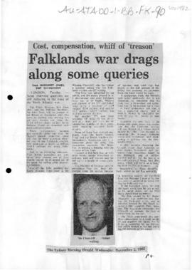 Press articles concerning the Falkland Islands/Malvinas conflict, November 1982