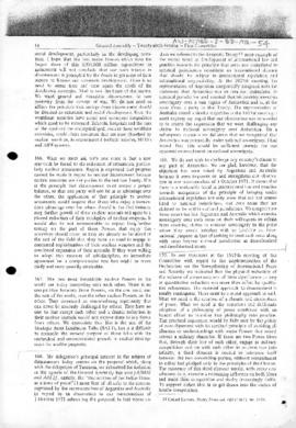 United Nations, Statement of Ceylon concerning Antarctica as an example of an international domain, and Argentine statement