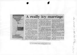 """A really icy marriage"" Canberra Times"