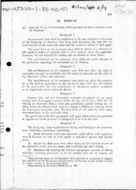 Act no. 91 relating to the economic zone of Norway