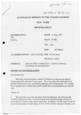 Australia, Department of Foreign Affairs and Trade, Mission to the United Nations facsimile conce...