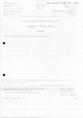 United Nations General Assembly, Thirty-eighth session, First Committee, Summary record of the 45th meeting (A/C.1/38/PV.45)
