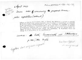 Service order concerning proposed French polar expeditions (extract)
