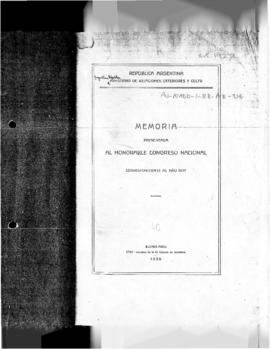 Argentina, National Congress, Memoria publications concerning territorial application of posts an...