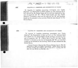 United States, comments by the Department of State on areas claimed by Admiral Byrd