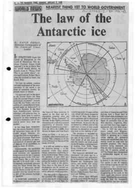 Press articles concerning future of Antarctic, Antarctic Treaty System